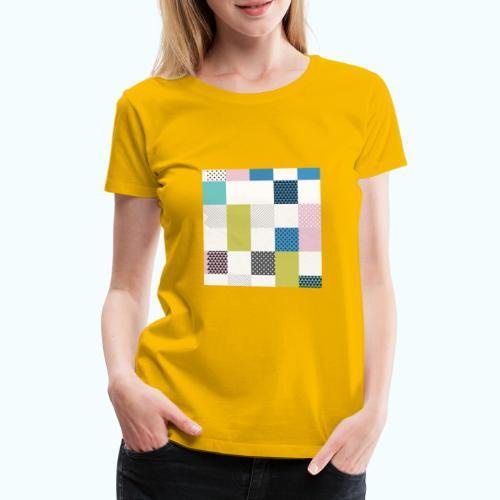 Abstract art squares - Women's Premium T-Shirt