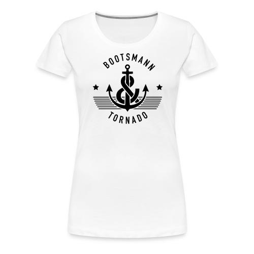 Bootsmann & Tornado Stars Logo - Frauen Premium T-Shirt