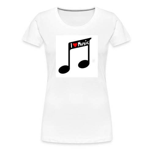 I love music - Frauen Premium T-Shirt