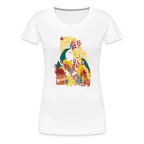 G'sab - Queen of Arabic Letters - Women's Premium T-Shirt