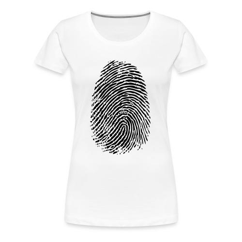 FINGERPRINT BLACK - Dame premium T-shirt