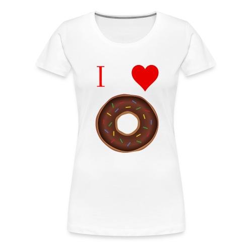 I ♥ donuts   T-shirt   Tiener/Man - Vrouwen Premium T-shirt
