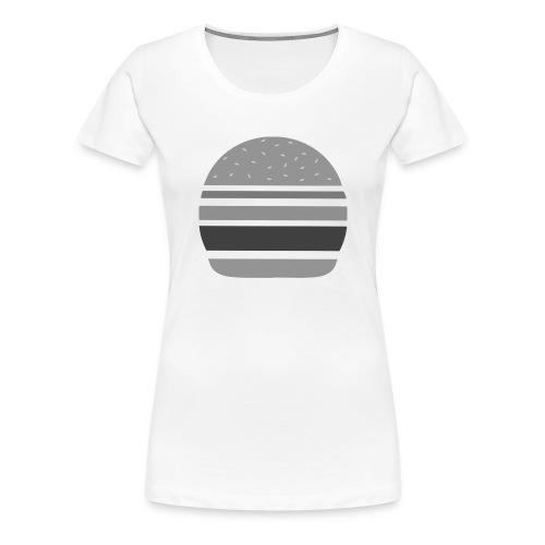 Logo_panhamburger_gris - T-shirt Premium Femme