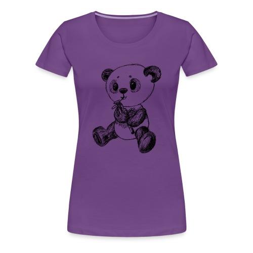 Panda Bär schwarz scribblesirii - Frauen Premium T-Shirt