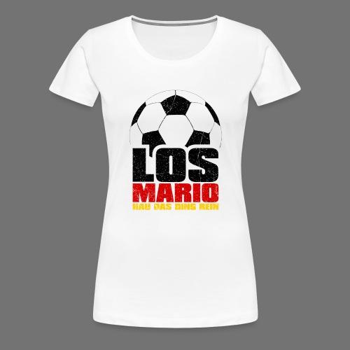 Football - Go Mario, hau moving the thing in (3c - Women's Premium T-Shirt