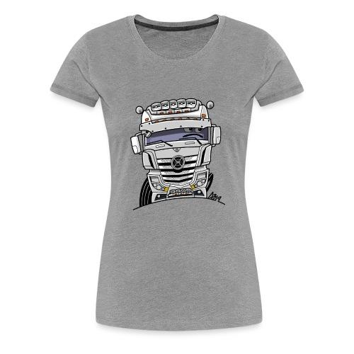 0807 M truck wit - Vrouwen Premium T-shirt
