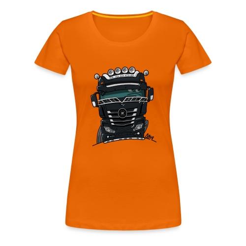 0807 M truck zwart - Vrouwen Premium T-shirt