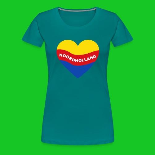 Love Noord Holland Hart.png - Vrouwen Premium T-shirt