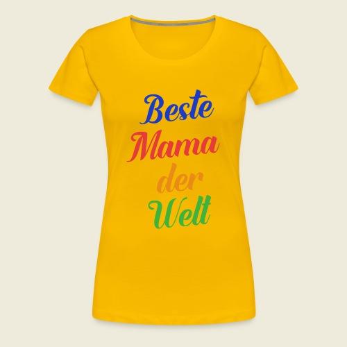 Beste Mama der Welt schön bunt - Frauen Premium T-Shirt
