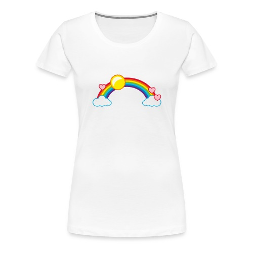 Regenbogen Sonne Herz Rainbow Cloud Heart - Women's Premium T-Shirt