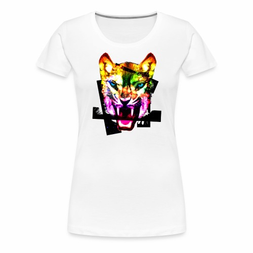 Tiger Kopf Stardust bunt Frühling Sommer Motive - Frauen Premium T-Shirt