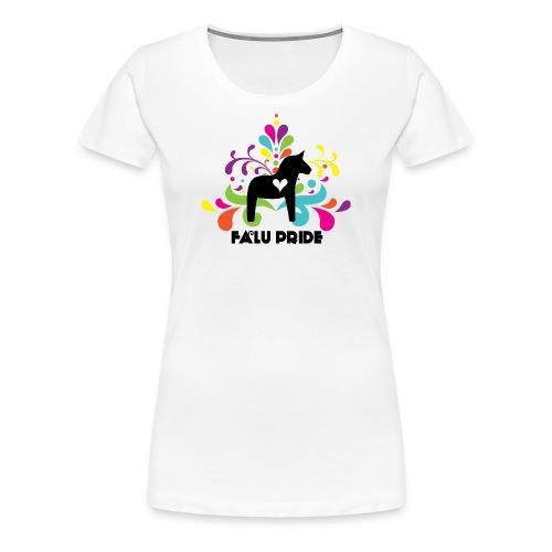 Logotyp med text - Premium-T-shirt dam