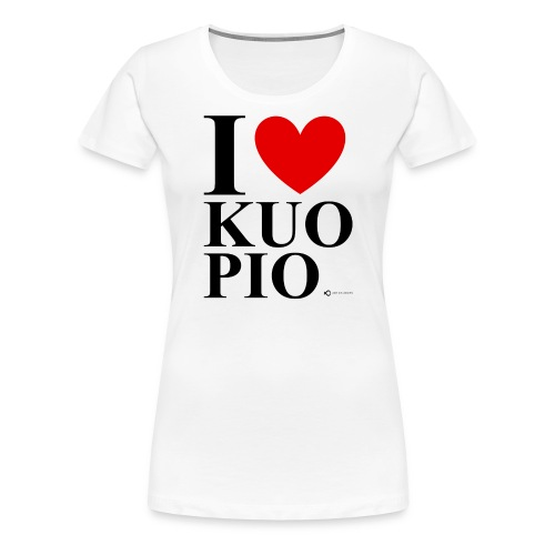 I LOVE KUOPIO ORIGINAL (musta) - Naisten premium t-paita