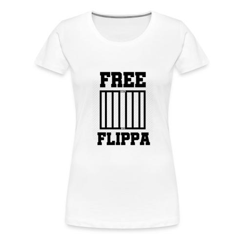 Free Flippa Zwart - Vrouwen Premium T-shirt