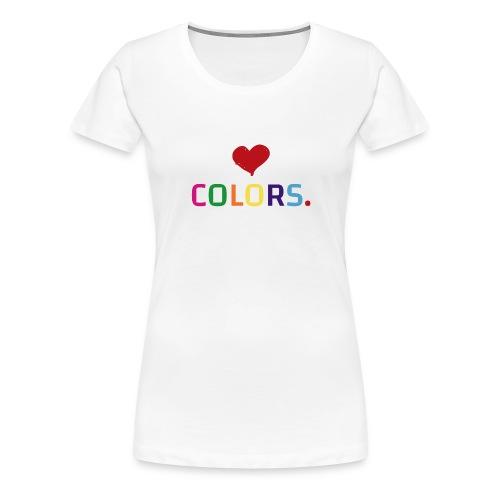 Colors lover - color love - T-shirt Premium Femme