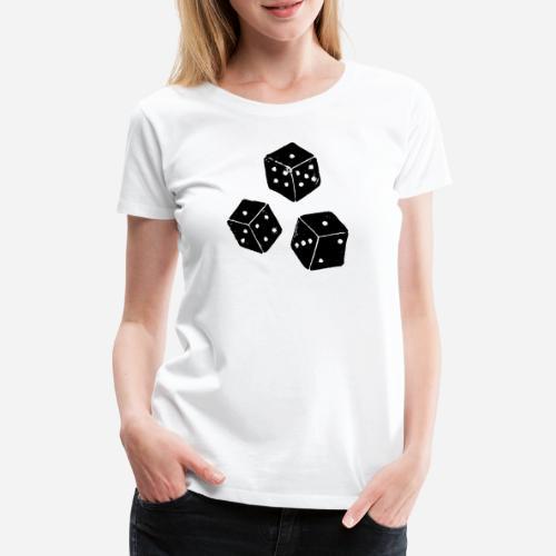 Chicago | Chick | Tschigg Würfelspiel - Frauen Premium T-Shirt