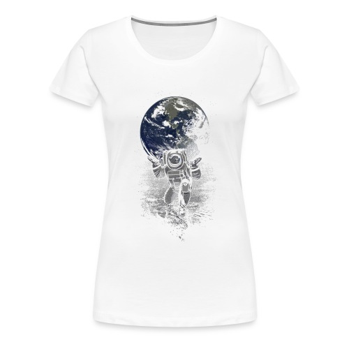 atlasfunnyspacemenBlackBa - T-shirt Premium Femme