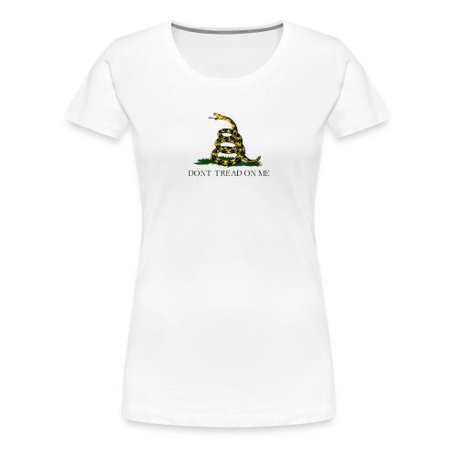 Gadsden flag transparent big - Premium-T-shirt dam