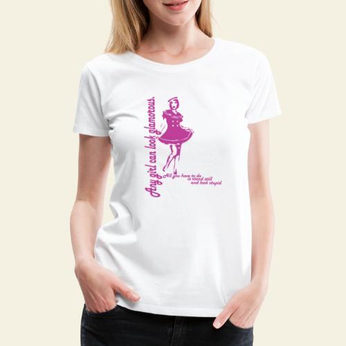 Navy Girl - Dame premium T-shirt