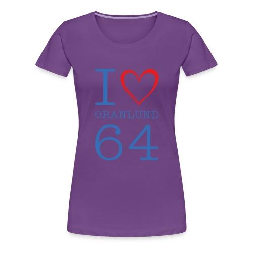 I Love Granlund - Naisten premium t-paita