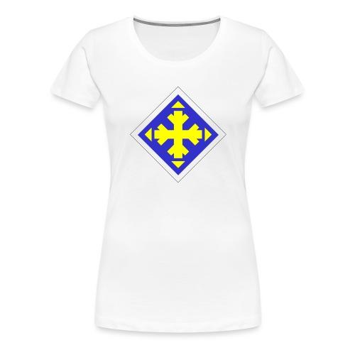 Mäksäreppu, vaalean sininen - Naisten premium t-paita