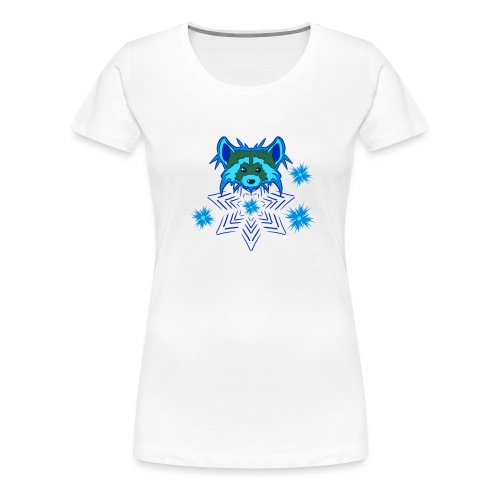 Snow Raccoon - Frauen Premium T-Shirt