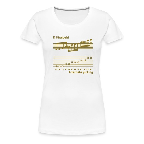 alternate picking - Women's Premium T-Shirt