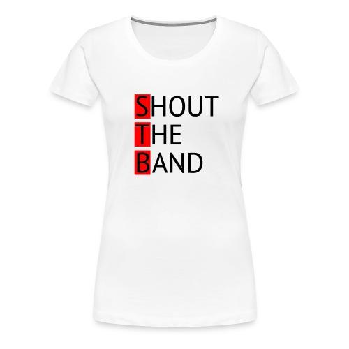 shout-logo-m - Naisten premium t-paita