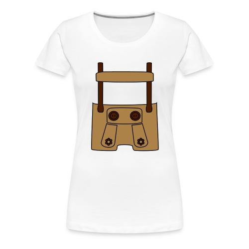 Meine erste Lederhose (vorne) - Frauen Premium T-Shirt