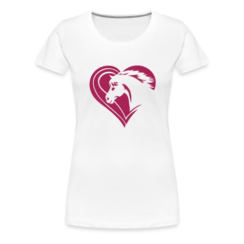 Iheart horses - Frauen Premium T-Shirt