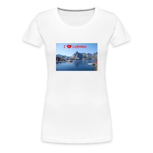 ilovelofoten - Premium T-skjorte for kvinner