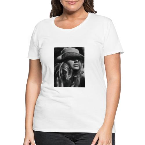 Lady with hat - T-shirt Premium Femme