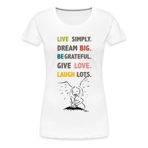 Koelner Engel Spruch_live - Frauen Premium T-Shirt