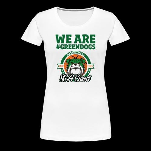 SCA CUSSET WE ARE GREEN - T-shirt Premium Femme