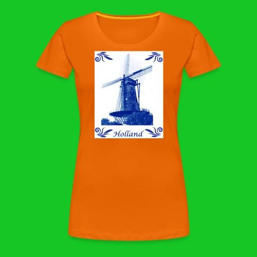 Delfts Blauw Molen - Vrouwen Premium T-shirt