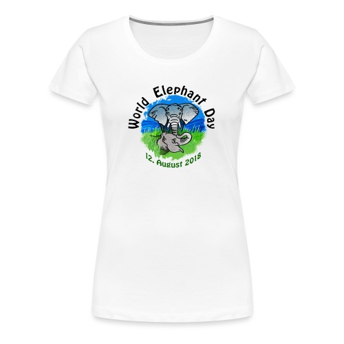 World Elephant Day 2018 - Frauen Premium T-Shirt