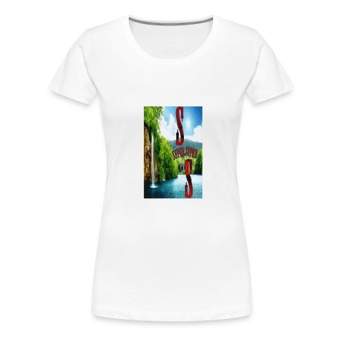 SUPER_cascata-gif - Maglietta Premium da donna