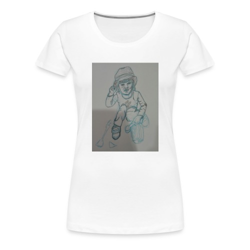 Camiseta con retrato - Camiseta premium mujer