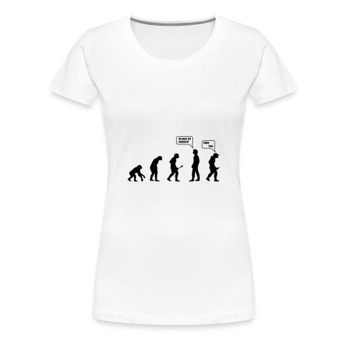 The evolution - T-shirt Premium Femme