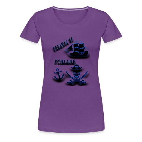 Pirates - Naisten premium t-paita