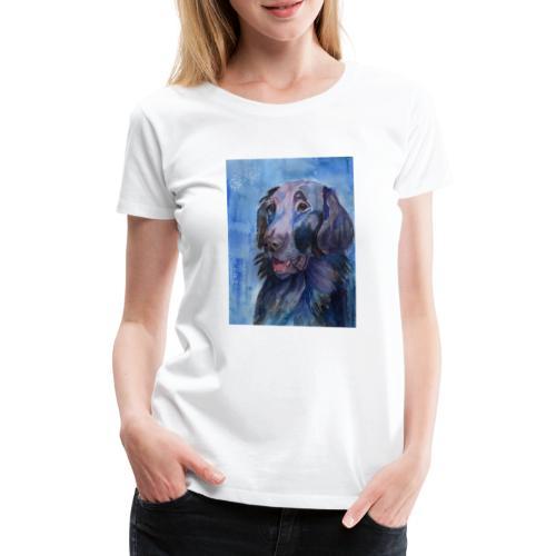 flatcoated retriever - watercolor - Dame premium T-shirt