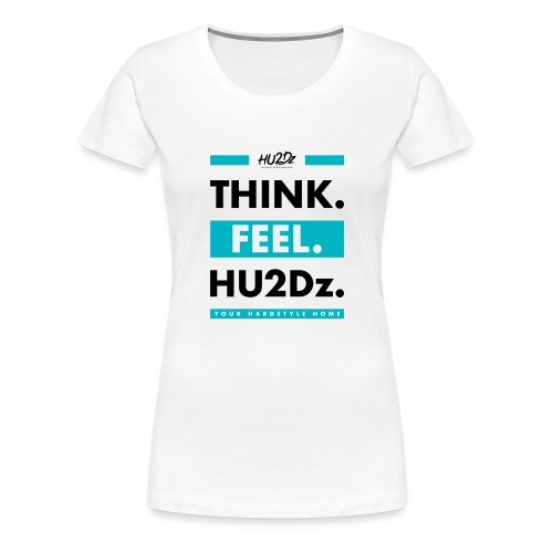 THINK FEEL HU2Dz Black White Shirt - Vrouwen Premium T-shirt