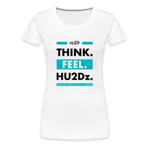 THINK FEEL HU2Dz Black White Shirt - Women's Premium T-Shirt
