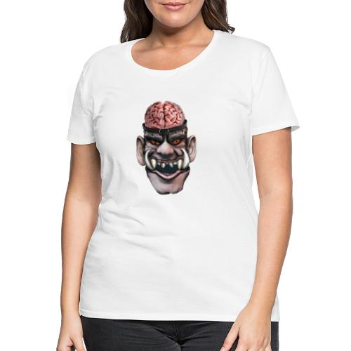 Big brain monster - Premium-T-shirt dam