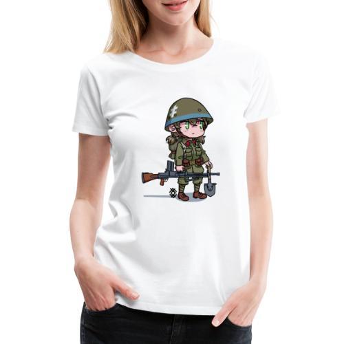 Chibi Slovak - Naisten premium t-paita