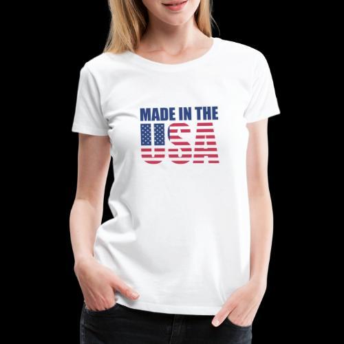 made-in-the-usa - Frauen Premium T-Shirt