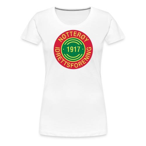 Nøtterøy if - Premium T-skjorte for kvinner