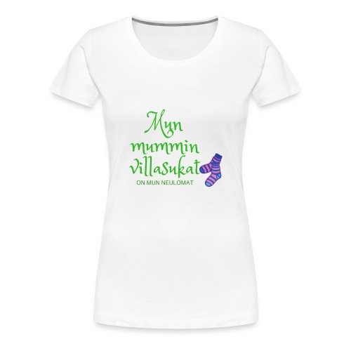 My woolen wool is my needlework - Women's Premium T-Shirt