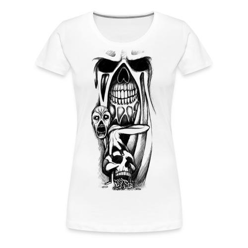 grey ink evil zombie tattoo designs - Koszulka damska Premium