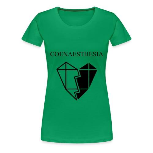 Logo & Heart Front Small - Frauen Premium T-Shirt